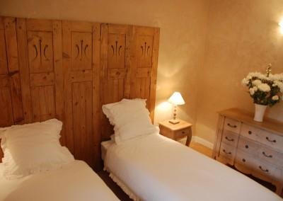 La chambre Ventarel en configuration deux lits simples
