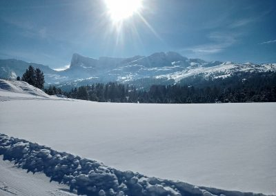 journée à la neige joue du loup Dévoluy
