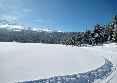 journée à la neige joue du loup massif du Dévoluy