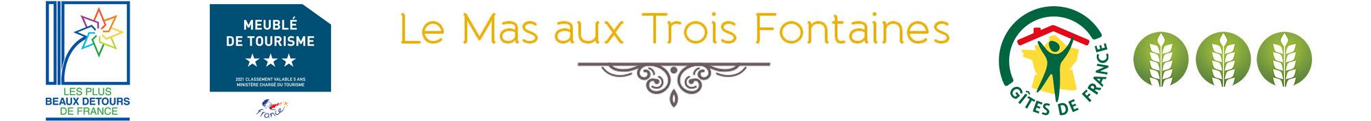 Le Mas aux Trois Fontaines gîtes chic, charme et confort à Nyons