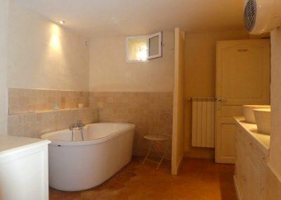 salle de bain du gite casa bella